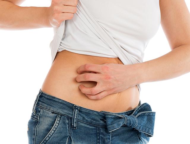 hiv on stomach