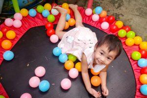 loving her trampoline