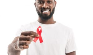 red ribbon for HIV